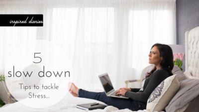 How stress turns to sickness plus 5 tips for slowing down. Visit inspirediaries.com/free for more support.