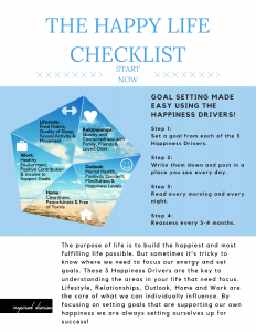 Set your goals based on your happiness dimensions and you'll never fail! Visit inspirediaries.com for more.